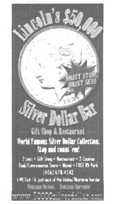 Lincolns $50,000 Silver Dollar Bar